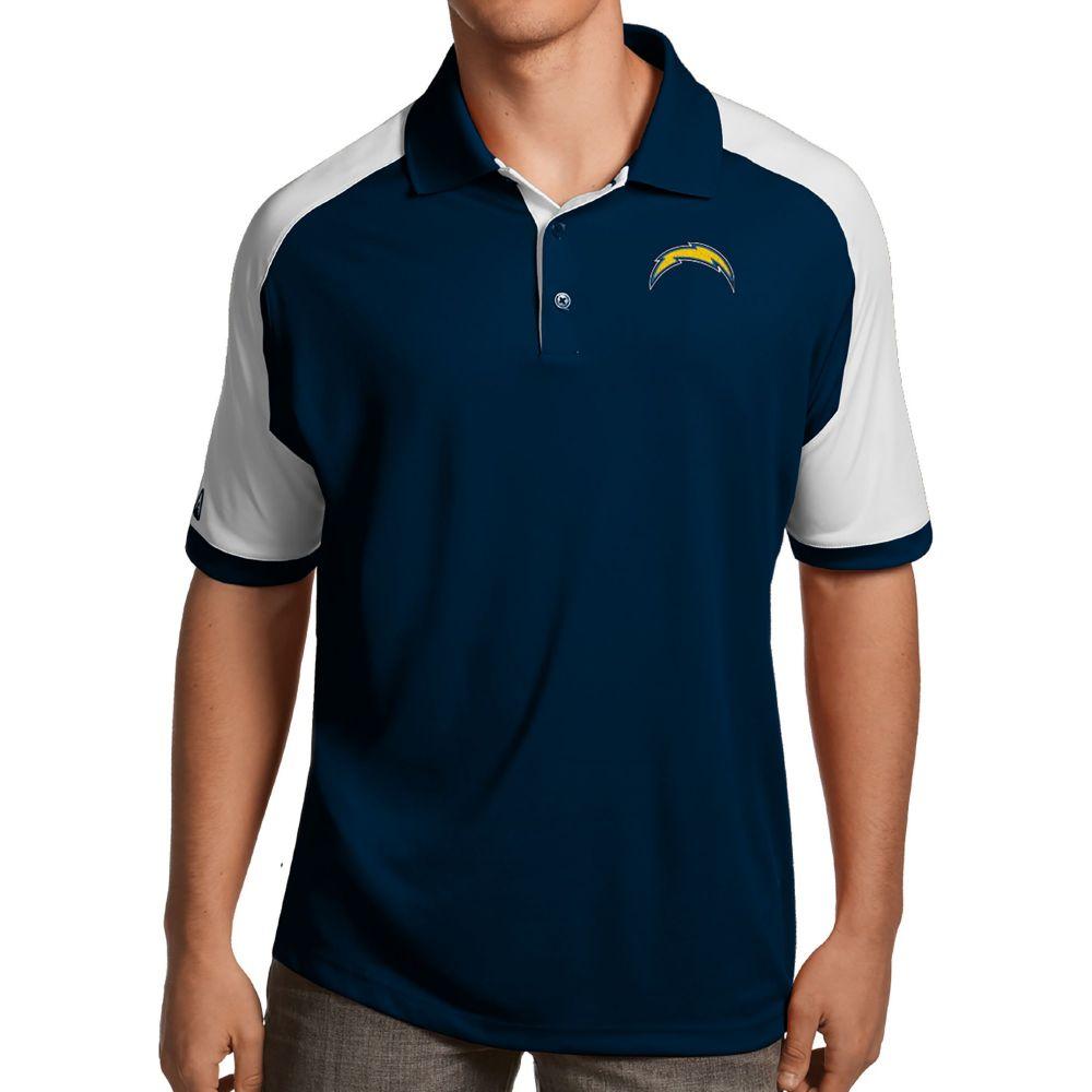 アンティグア Antigua メンズ ポロシャツ トップス【Los Angeles Chargers Century Navy Polo】