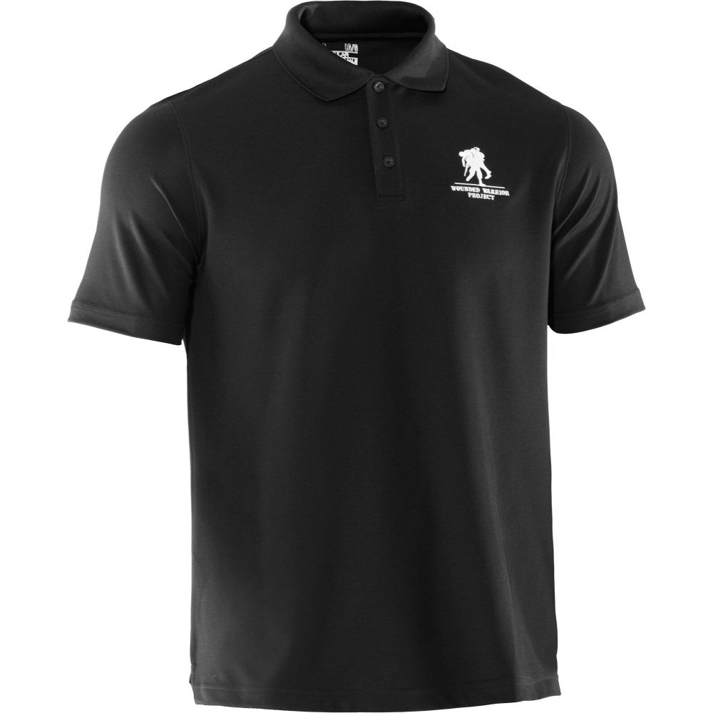 アンダーアーマー Under Armour メンズ ポロシャツ トップス【Wounded Warrior Project Performance Polo Shirt】Black