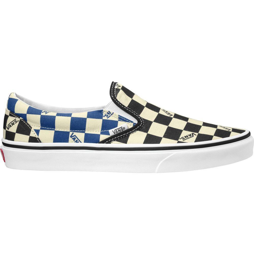 ヴァンズ Vans メンズ スリッポン・フラット シューズ・靴【Classic Slip-On Big Check Canvas Shoes】Black/Navy