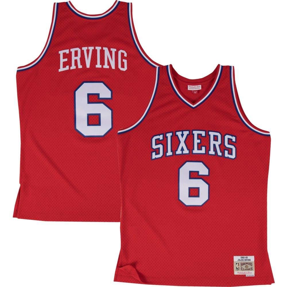 ミッチェル&ネス Mitchell & Ness メンズ トップス 【Philadelphia 76ers Julius Erving #6 Swingman Jersey】