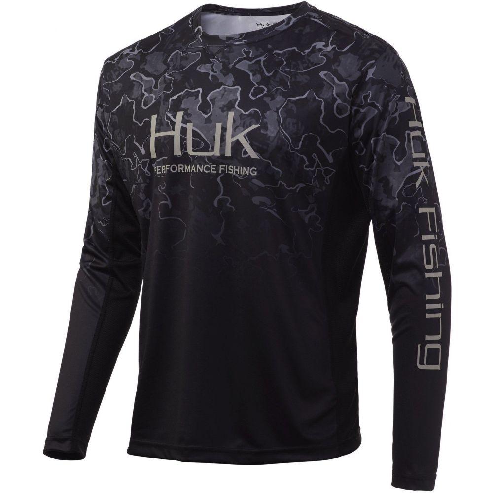 ハック メンズ サービス 釣り フィッシング トップス Hannibal Bank サイズ交換無料 HUK 大きいサイズ Icon X Regular Long Fade 送料無料/新品 Shirt Fishing Sleeve Performance Camo and Big Tall