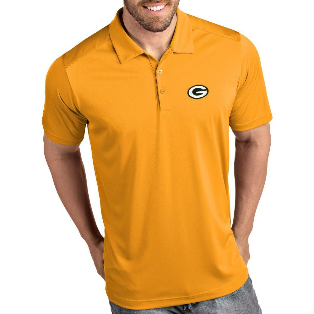アンティグア Antigua メンズ ポロシャツ トップス【Green Bay Packers Tribute Gold Polo】