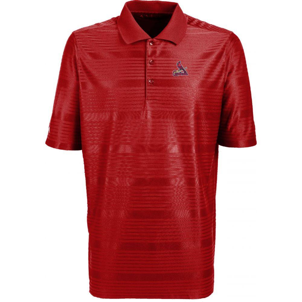 アンティグア Antigua メンズ ポロシャツ トップス【St. Louis Cardinals Illusion Red Striped Performance Polo】