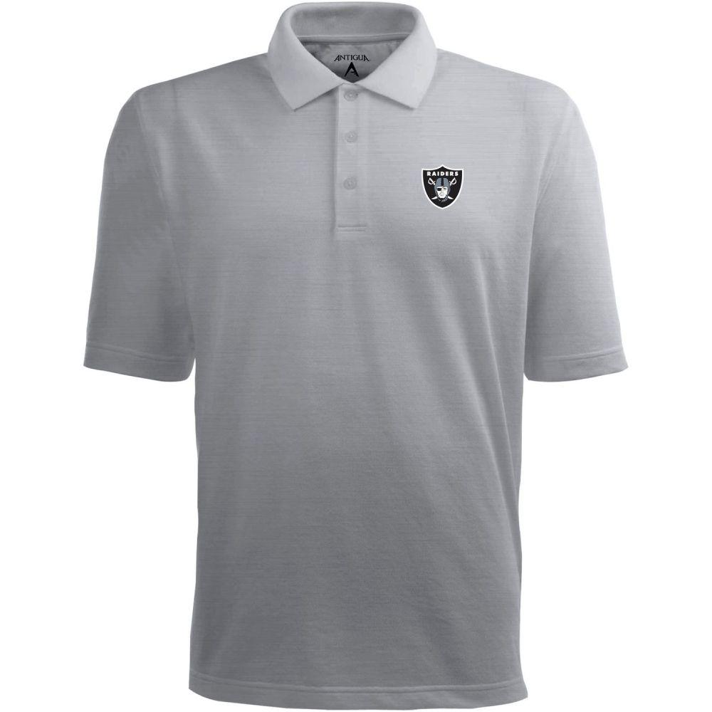 アンティグア Antigua メンズ ポロシャツ トップス【Las Vegas Raiders Pique Xtra-Lite Grey Polo】