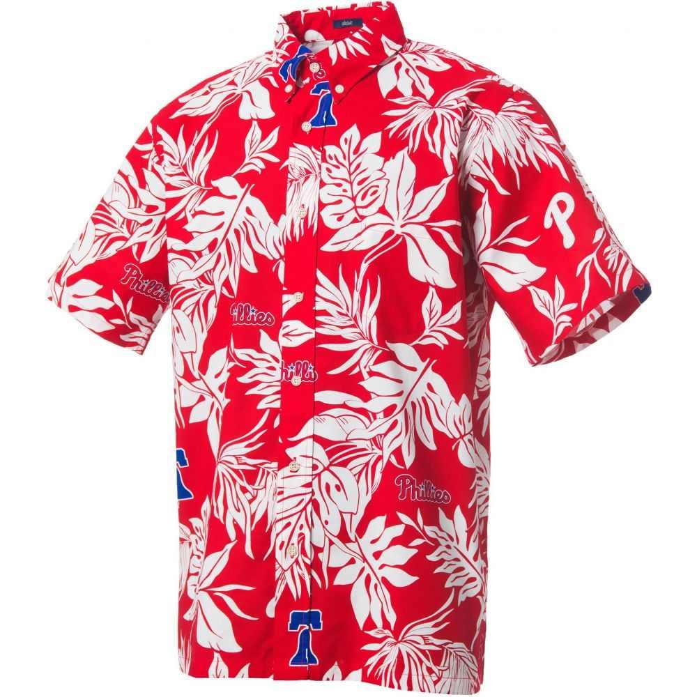 レインスプーナー Reyn Spooner メンズ シャツ トップス【Philadelphia Phillies Red Aloha Button-Down Shirt】