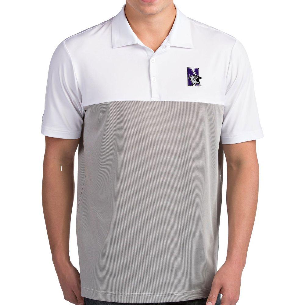 アンティグア Antigua メンズ ポロシャツ トップス【Northwestern Wildcats Venture White Polo】