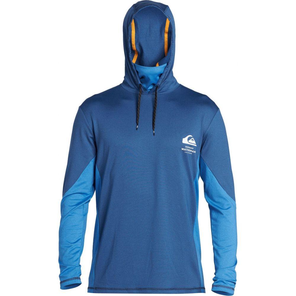 クイックシルバー Quiksilver メンズ ラッシュガード 水着・ビーチウェア【Waterman Angler Hooded Long Sleeve Rash Guard】Estate Blue