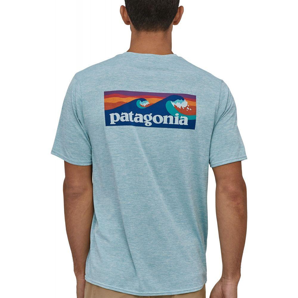 パタゴニア Patagonia メンズ ラッシュガード 水着・ビーチウェア【Capilene Cool Daily Graphic Short Sleeve Rash Guard】Big Sky Blue