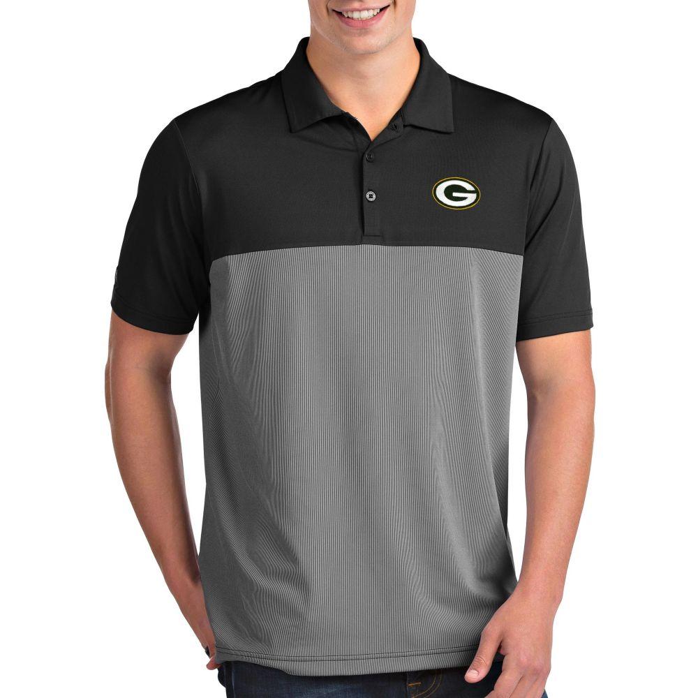 アンティグア Antigua メンズ ポロシャツ トップス【Green Bay Packers Venture Black Performance Polo】