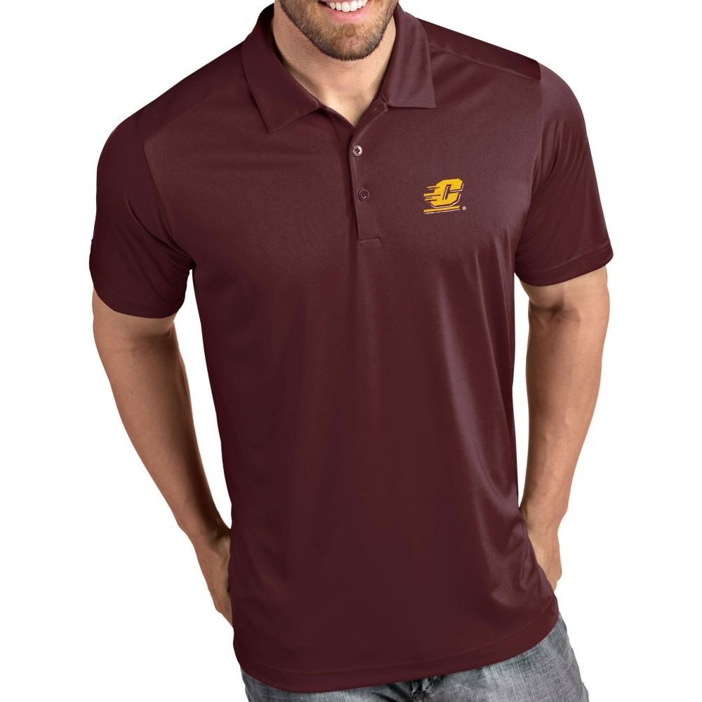 アンティグア Antigua メンズ ポロシャツ トップス【Central Michigan Chippewas Maroon Tribute Performance Polo】