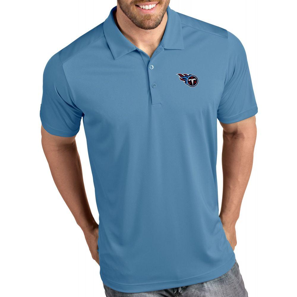 アンティグア Antigua メンズ ポロシャツ トップス【Tennessee Titans Tribute Blue Polo】