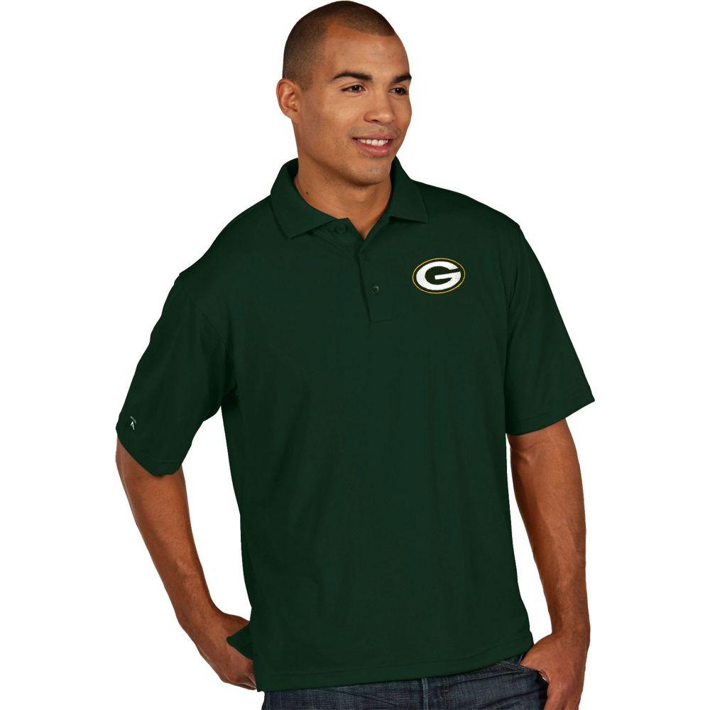 アンティグア Antigua メンズ ポロシャツ トップス【Green Bay Packers Pique Xtra-Lite Green Polo】