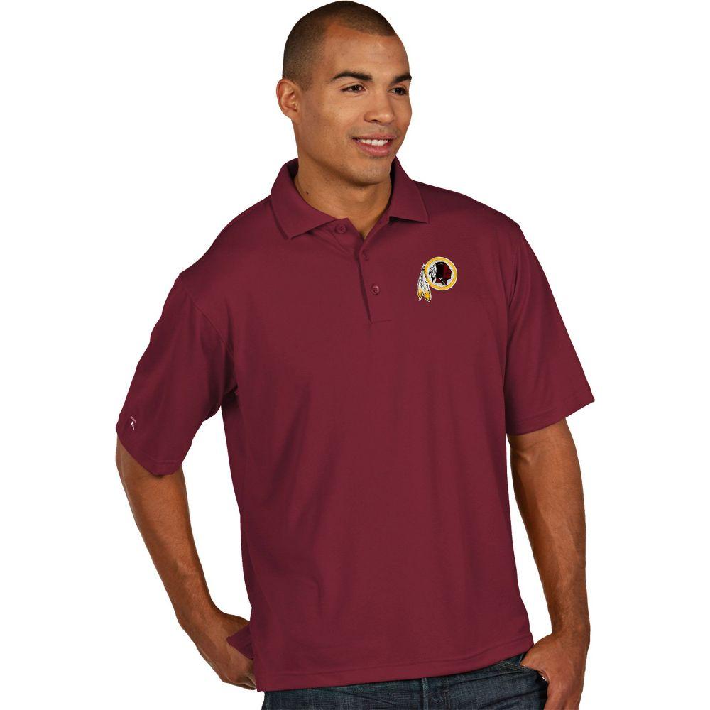 アンティグア Antigua メンズ ポロシャツ トップス【Washington Redskins Pique Xtra-Lite Red Polo】