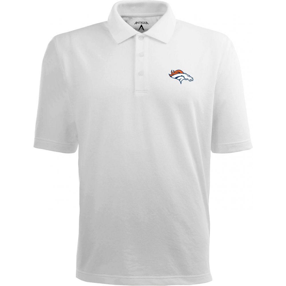 アンティグア Antigua メンズ ポロシャツ トップス【Denver Broncos Pique Xtra-Lite White Polo】