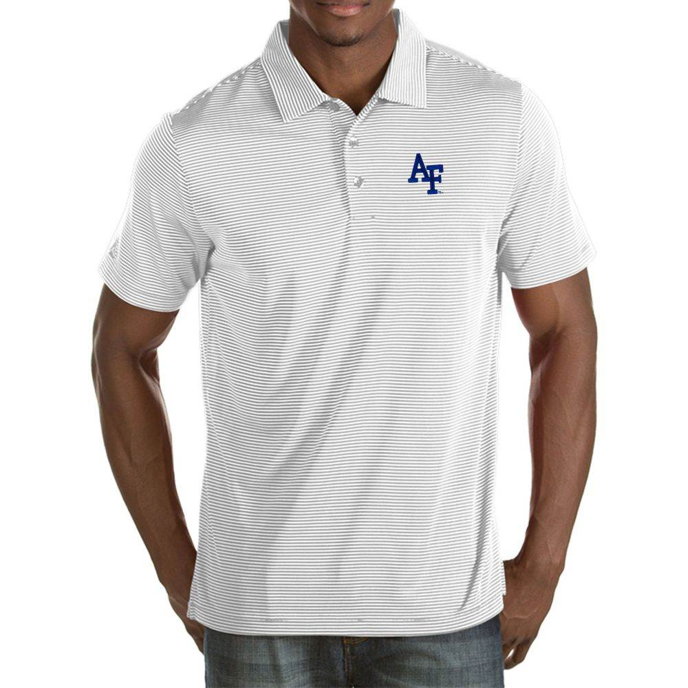 アンティグア Antigua メンズ ポロシャツ トップス【Air Force Falcons White Quest Polo】