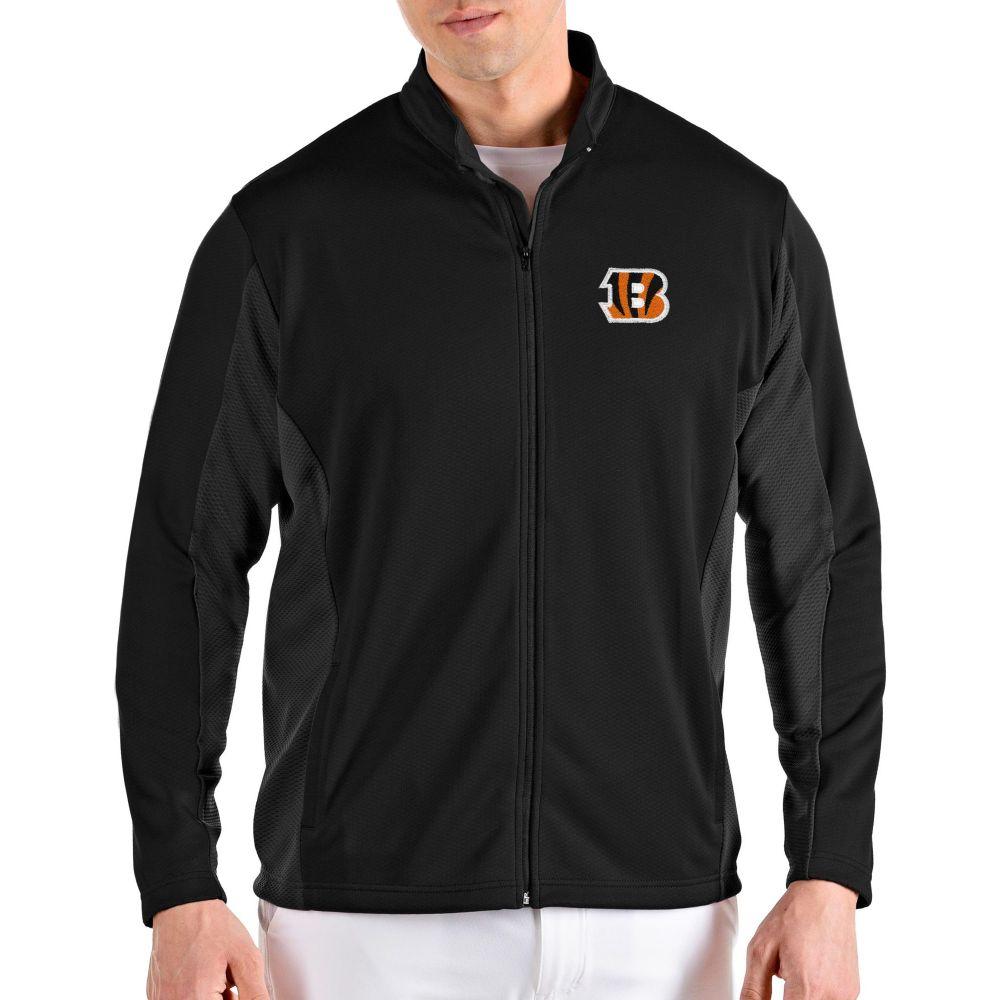 アンティグア Antigua メンズ ジャケット アウター【Cincinnati Bengals Passage Black Full-Zip Jacket】