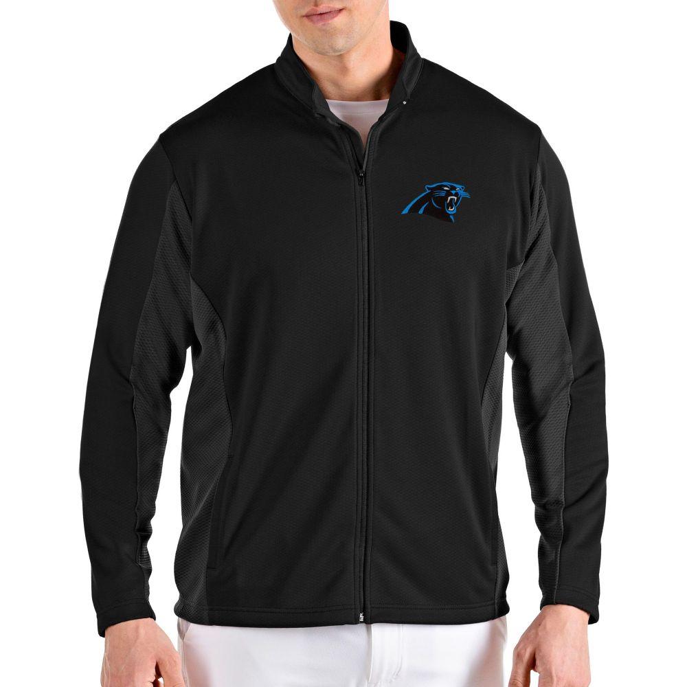 アンティグア Antigua メンズ ジャケット アウター【Carolina Panthers Passage Black Full-Zip Jacket】