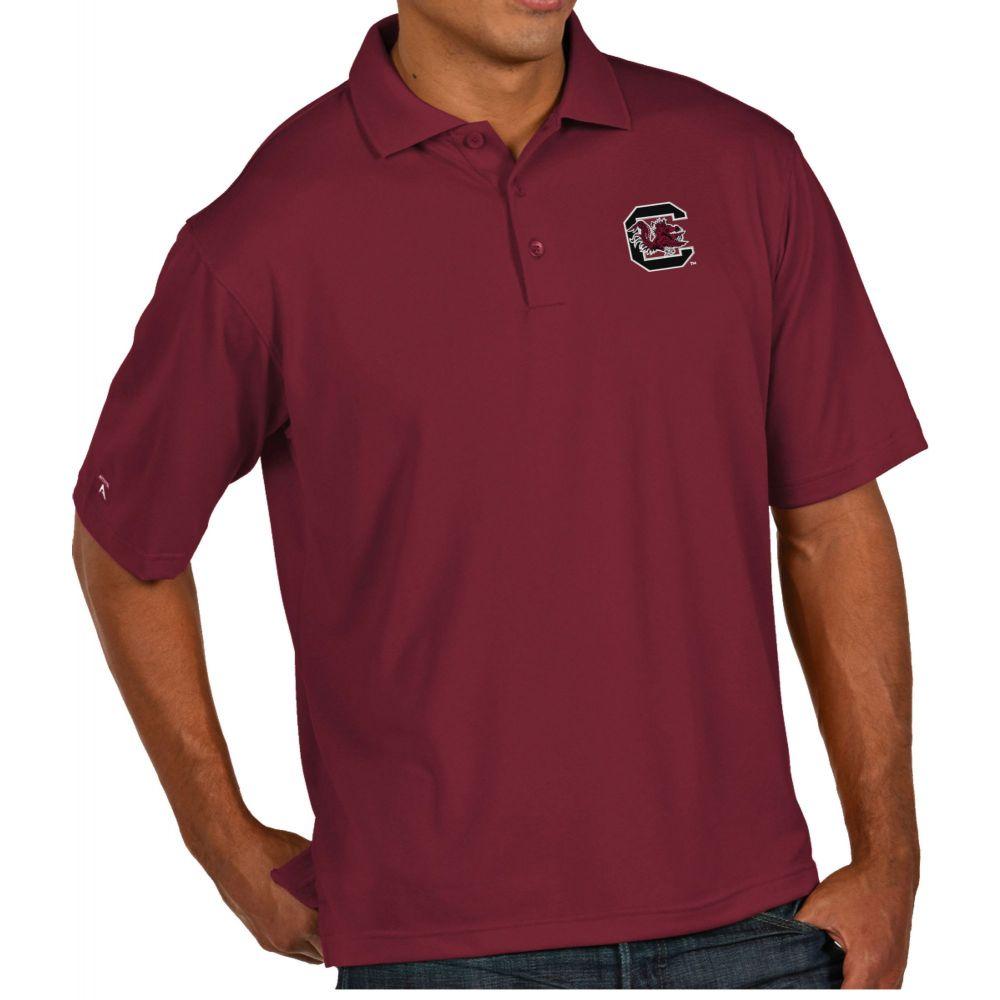 アンティグア Antigua メンズ ポロシャツ トップス【South Carolina Gamecocks Garnet Pique Xtra-Lite Polo】
