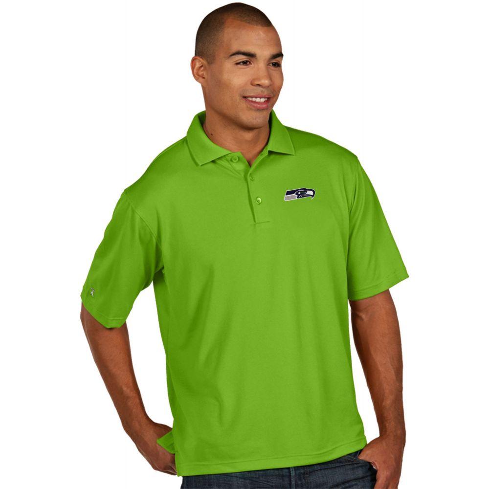 アンティグア Antigua メンズ ポロシャツ トップス【Seattle Seahawks Pique Xtra-Lite Green Polo】