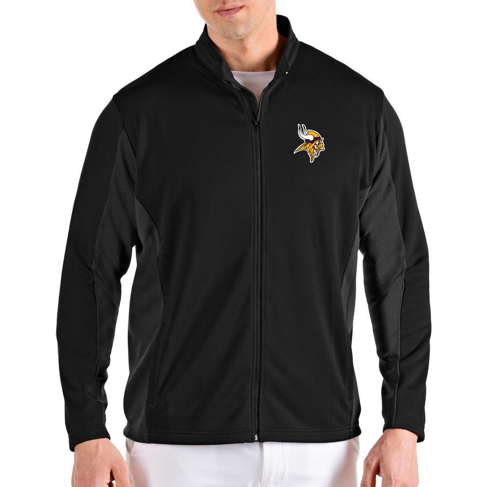 アンティグア Antigua メンズ ジャケット アウター【Minnesota Vikings Passage Black Full-Zip Jacket】