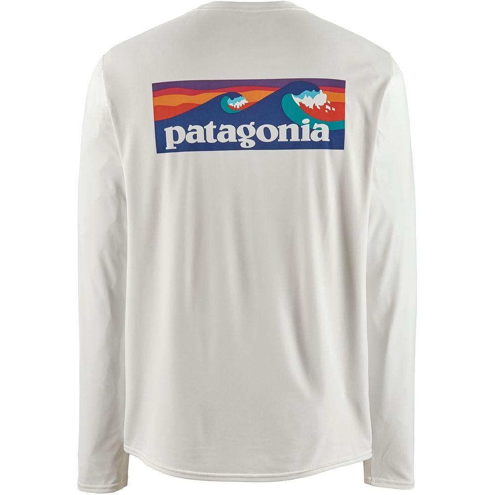 パタゴニア Patagonia メンズ ラッシュガード 水着・ビーチウェア【Capilene Cool Daily Graphic Long Sleeve Rash Guard】White