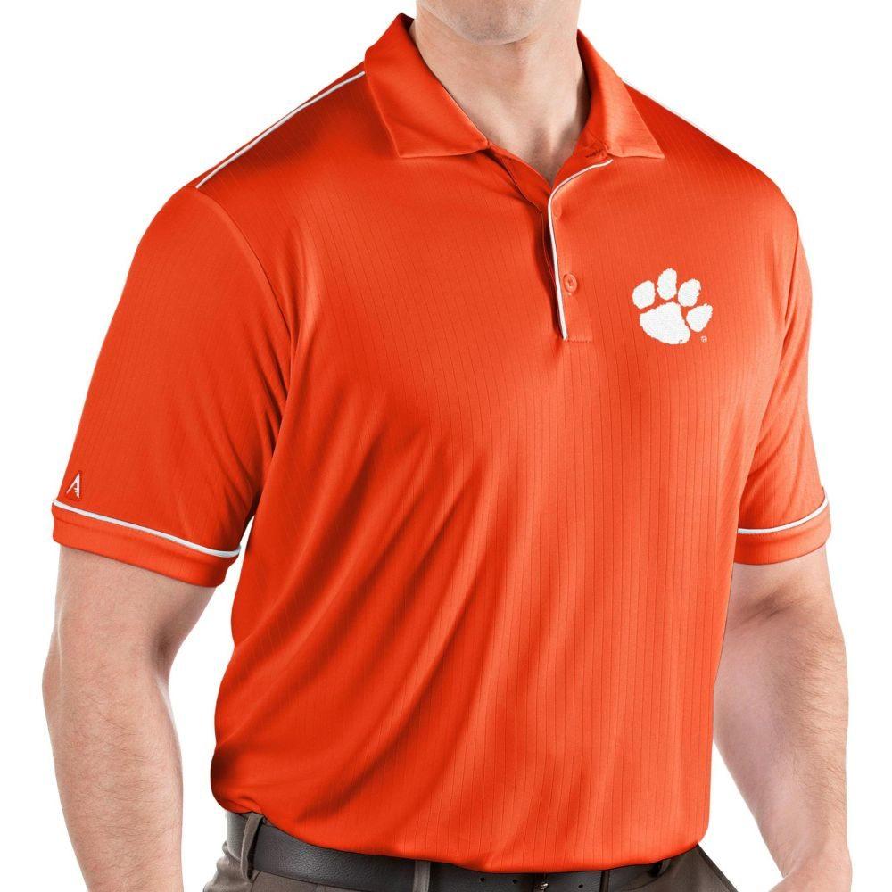 アンティグア Antigua メンズ ポロシャツ トップス【Clemson Tigers Orange Salute Performance Polo】