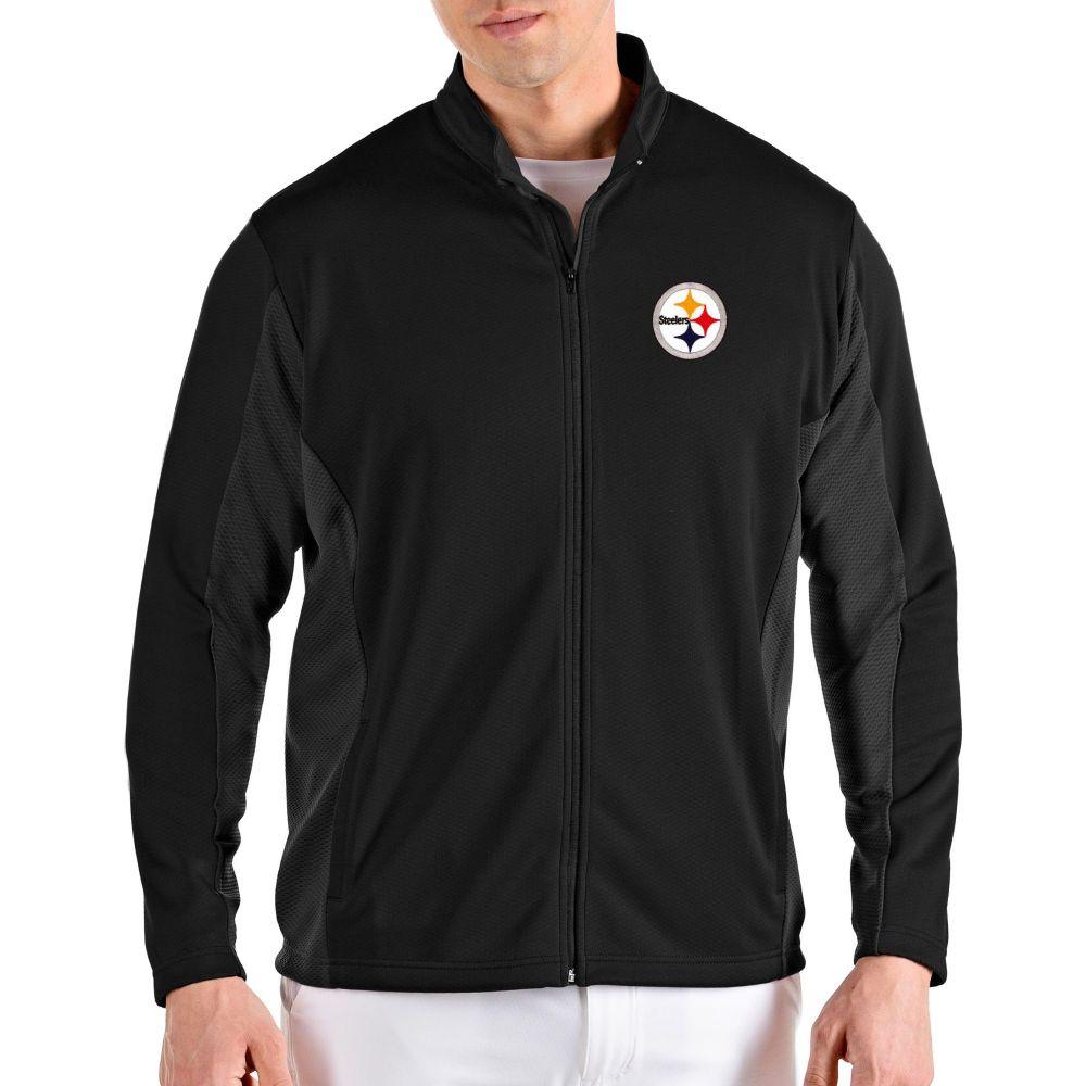 アンティグア Antigua メンズ ジャケット アウター【Pittsburgh Steelers Passage Black Full-Zip Jacket】