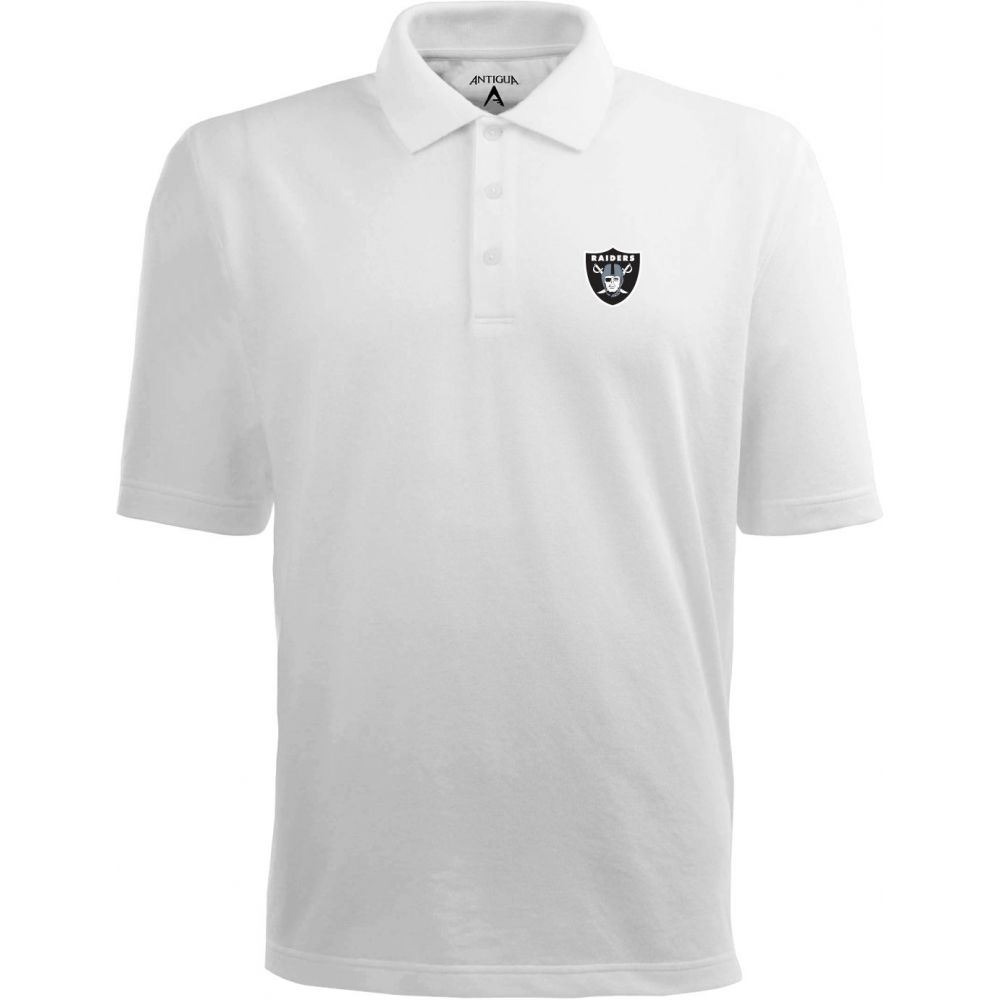 アンティグア Antigua メンズ ポロシャツ トップス【Las Vegas Raiders Pique Xtra-Lite White Polo】
