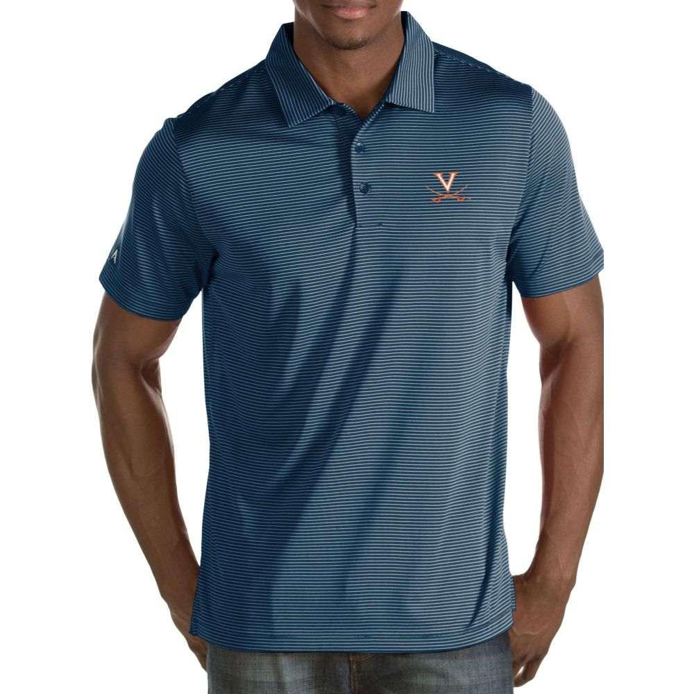 アンティグア Antigua メンズ ポロシャツ トップス【Virginia Cavaliers Blue/White Quest Polo】