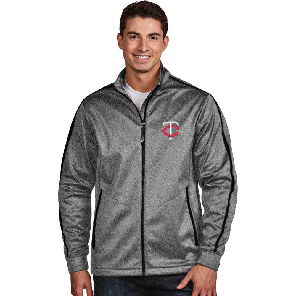 アンティグア Antigua メンズ ゴルフ アウター【Minnesota Twins Grey Golf Jacket】