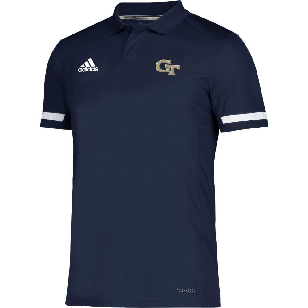 アディダス adidas メンズ アメリカンフットボール トップス【Georgia Tech Yellow Jackets Navy Team 19 Sideline Football Polo】