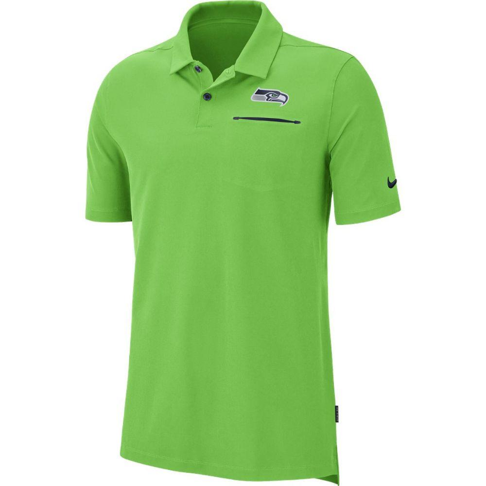 ナイキ Nike メンズ ポロシャツ トップス【Seattle Seahawks Sideline Elite Performance Green Polo】