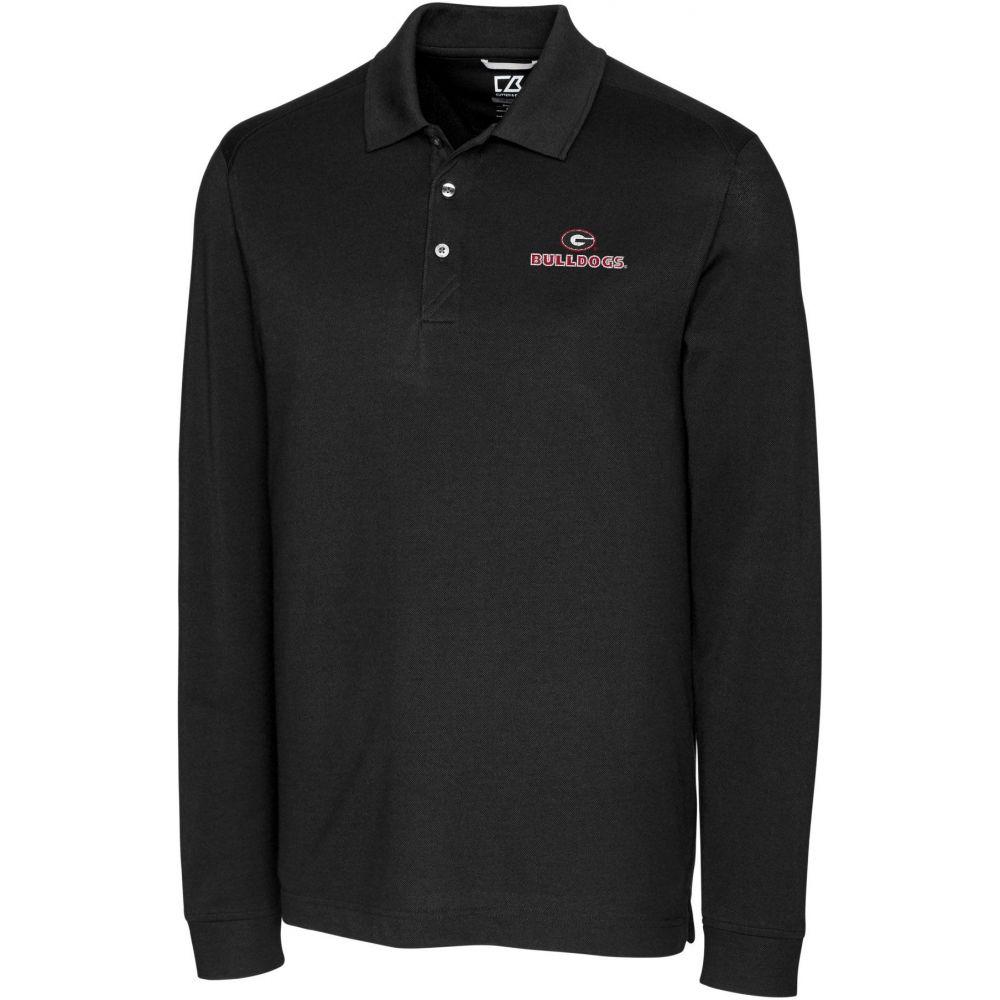 カッター&バック Cutter & Buck メンズ ポロシャツ トップス【Georgia Bulldogs Advantage Long Sleeve Black Polo】