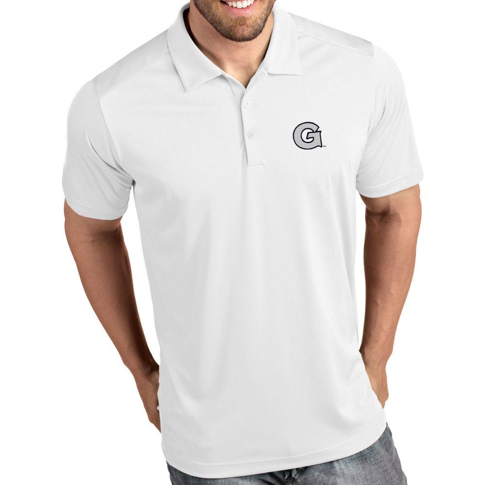 アンティグア Antigua メンズ ポロシャツ トップス【Georgetown Hoyas Tribute Performance White Polo】
