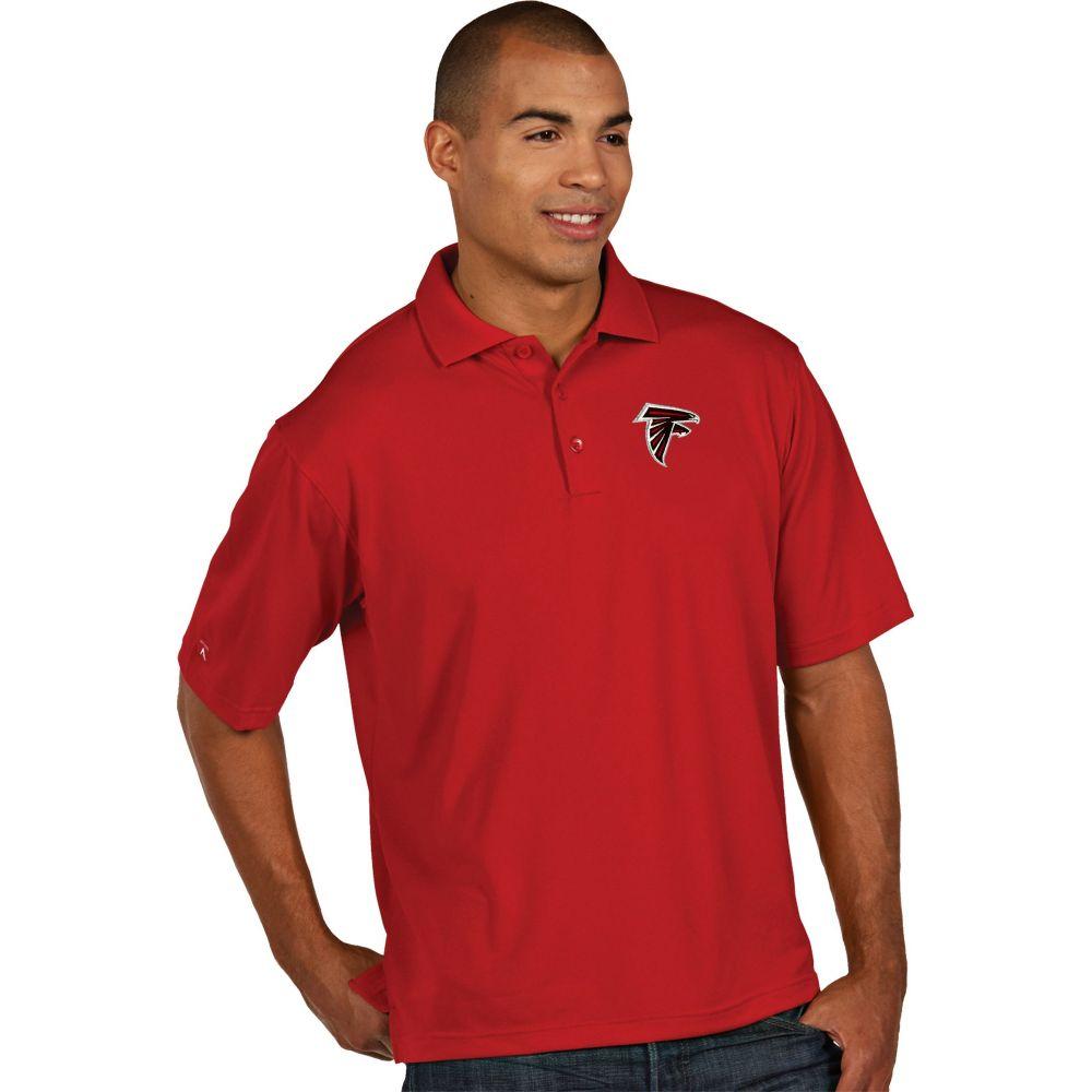 アンティグア Antigua メンズ ポロシャツ トップス【Atlanta Falcons Pique Xtra-Lite Red Polo】