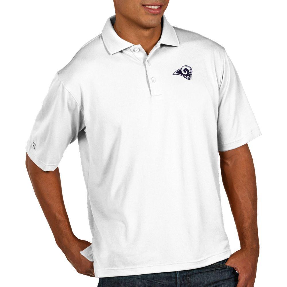 アンティグア Antigua メンズ ポロシャツ トップス【Los Angeles Rams Pique Xtra-Lite Performance White Polo】