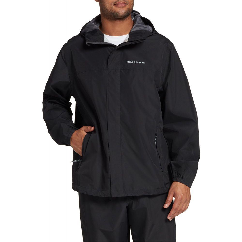 人気ショップ フィールドアンドストリーム Field & Stream メンズ レインコート アウター【Packable Rain Jacket】Black, ストラップのBig Brave 999bd845