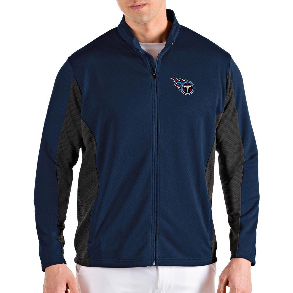 アンティグア Antigua メンズ ジャケット アウター【Tennessee Titans Passage Navy Full-Zip Jacket】
