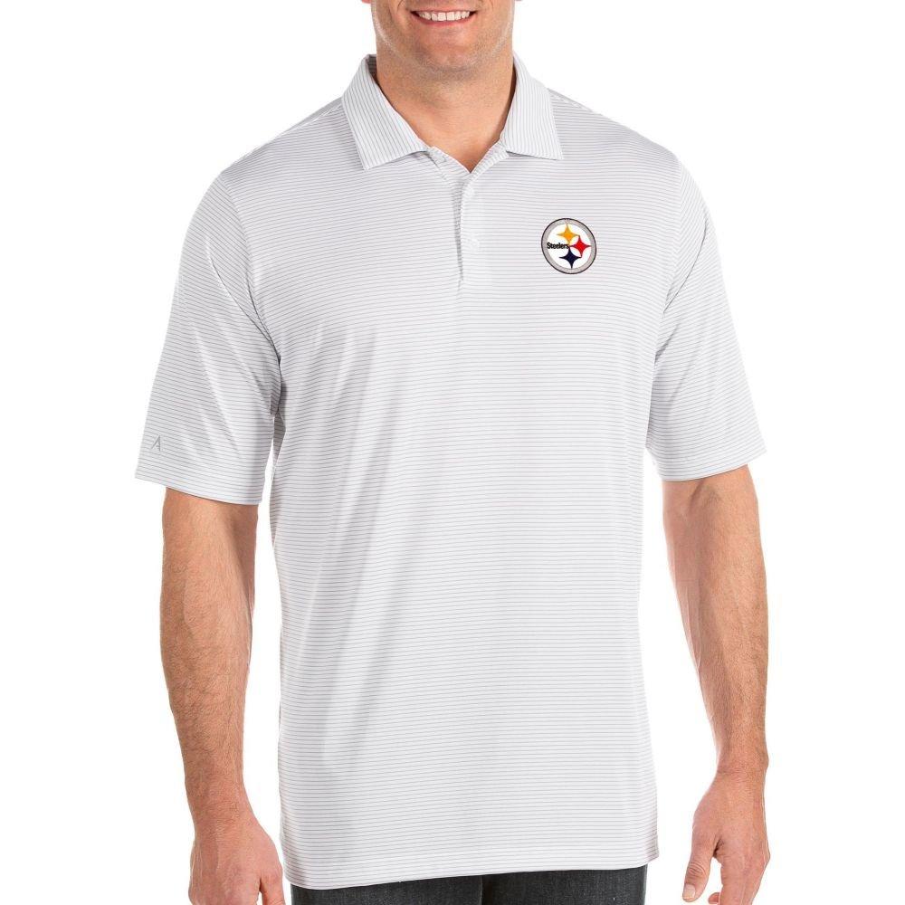 アンティグア Antigua メンズ ポロシャツ トップス【Pittsburgh Steelers Quest White Polo】