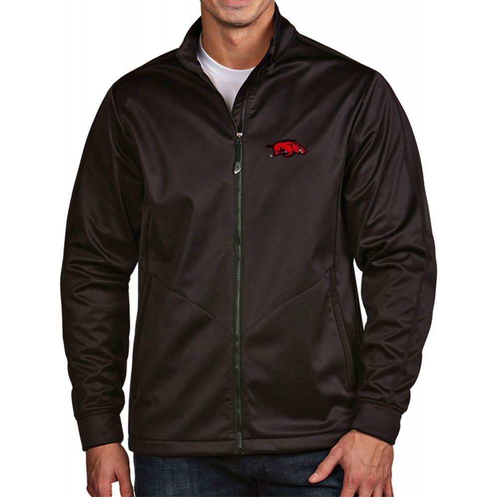 アンティグア Antigua メンズ ゴルフ アウター【Arkansas Razorbacks Black Full-Zip Golf Jacket】