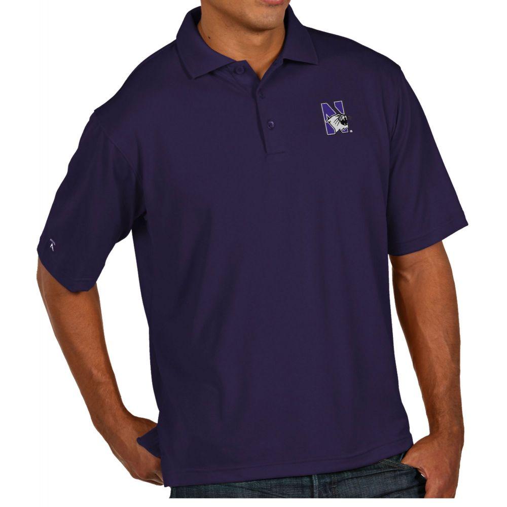 アンティグア Antigua メンズ ポロシャツ トップス【Northwestern Wildcats Purple Pique Xtra-Lite Polo】