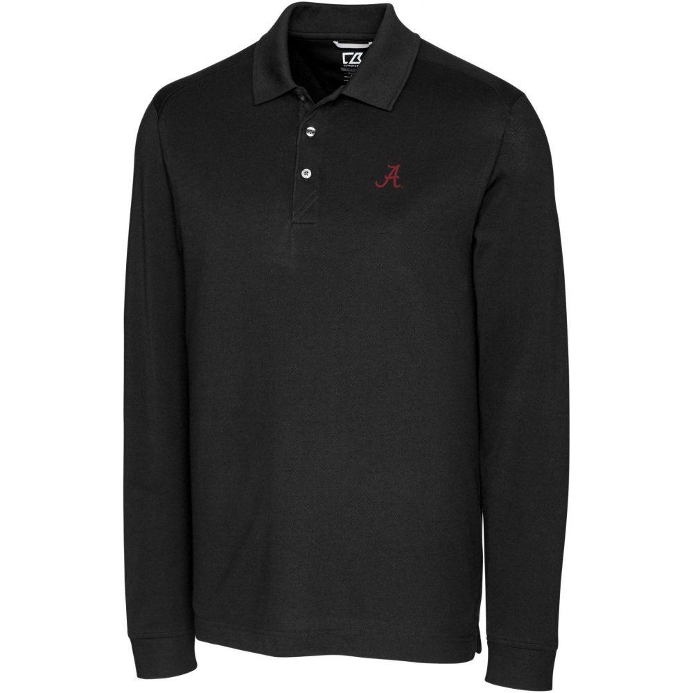 カッター&バック Cutter & Buck メンズ ポロシャツ トップス【Alabama Crimson Tide Advantage Long Sleeve Black Polo】