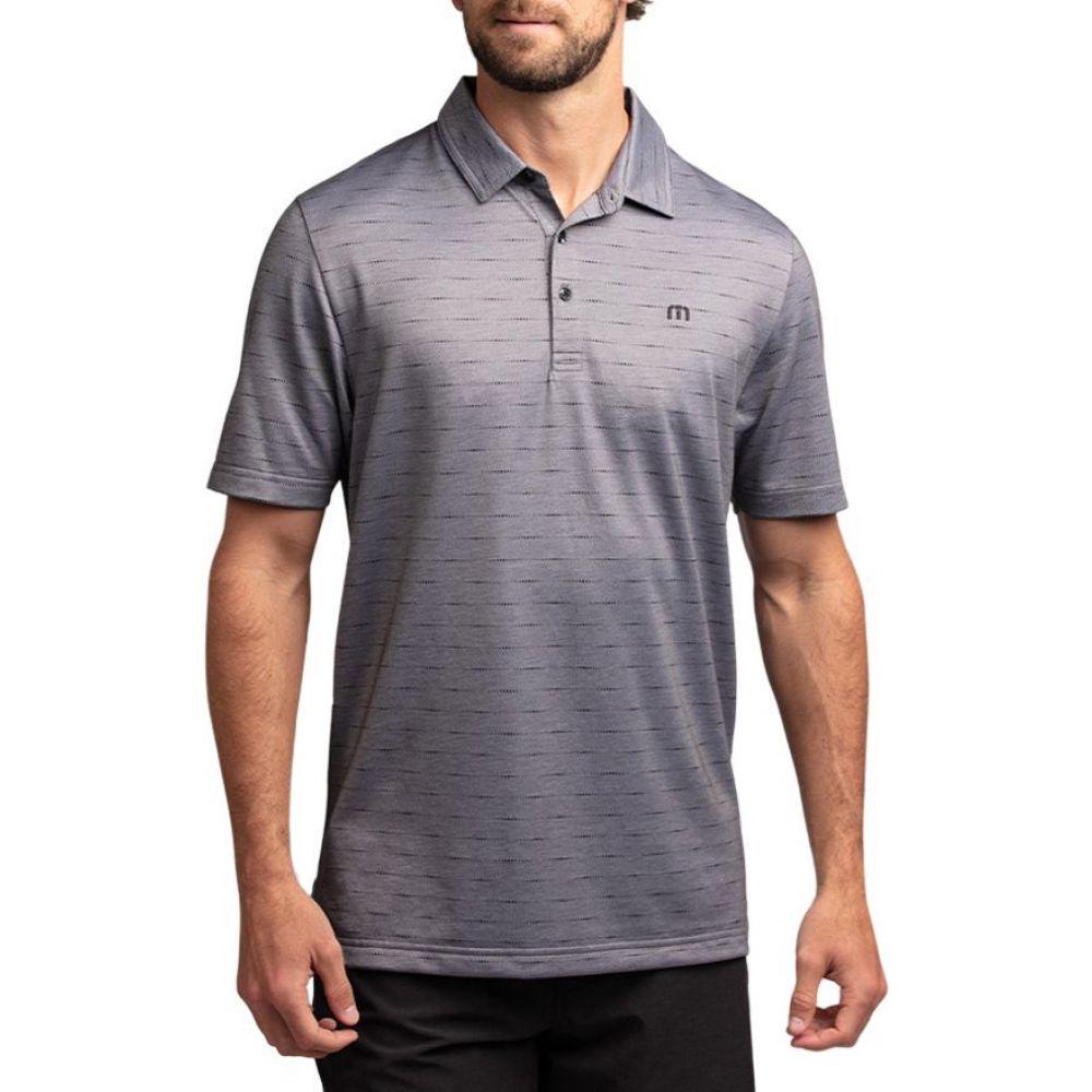 トラビスマシュー TravisMathew メンズ ゴルフ トップス【Attached Golf Polo】Heather Grey Pinstripe