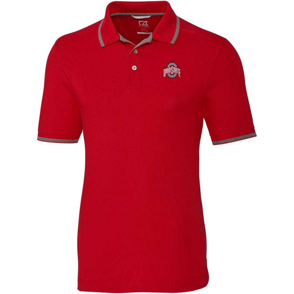 カッター&バック Cutter & Buck メンズ ポロシャツ トップス【Ohio State Buckeyes Scarlet Advantage Tipped Polo】