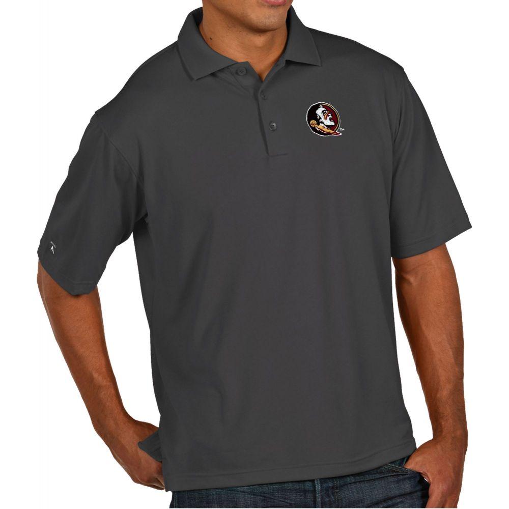 アンティグア Antigua メンズ ポロシャツ トップス【Florida State Seminoles Grey Pique Xtra-Lite Polo】