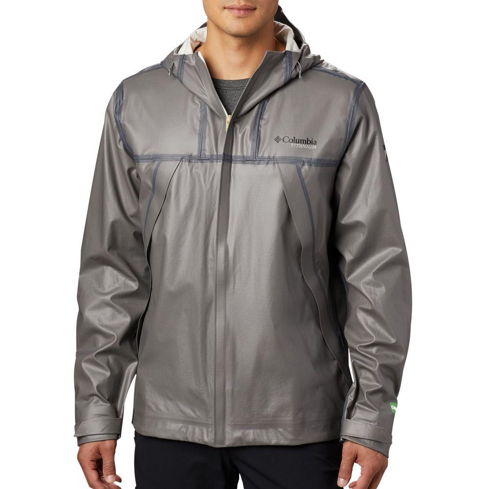 コロンビア Columbia メンズ レインコート アウター【OutDry EX Eco II Tech Shell Rain Jacket】City Grey