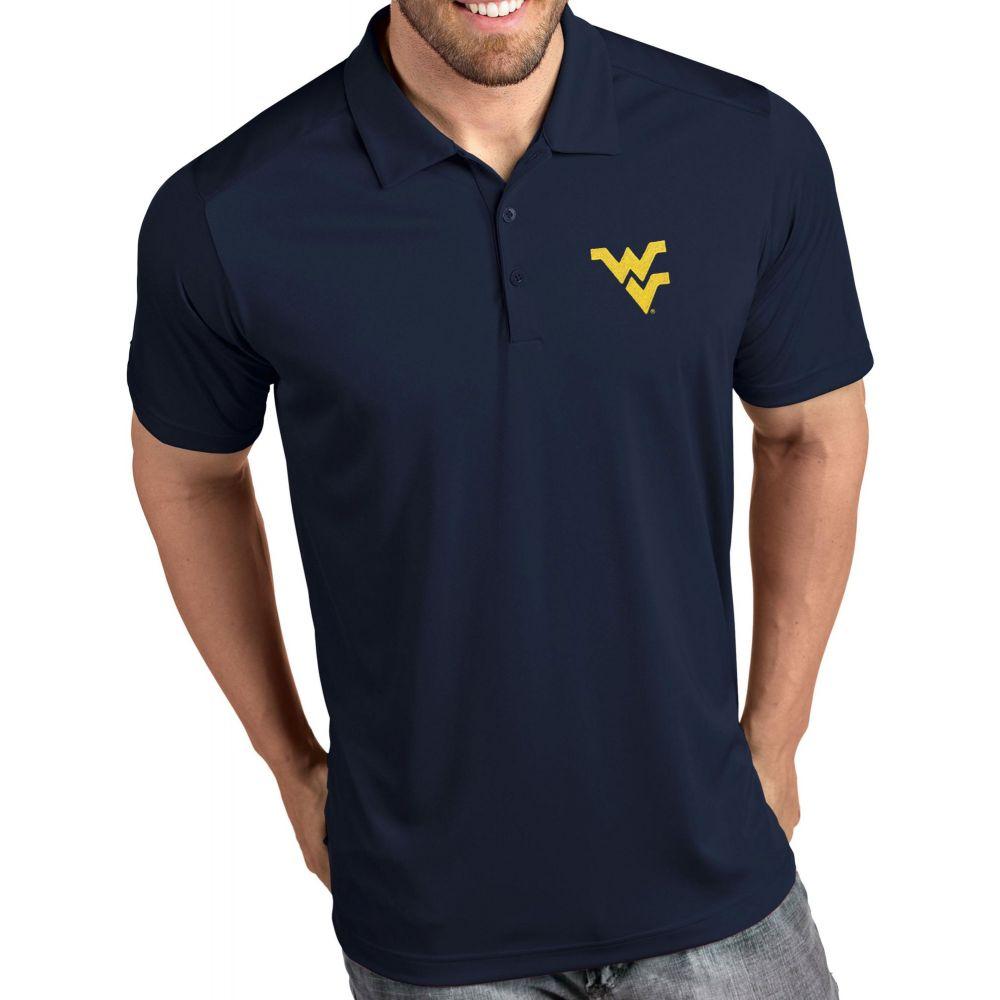 アンティグア Antigua メンズ ポロシャツ トップス【West Virginia Mountaineers Blue Tribute Performance Polo】