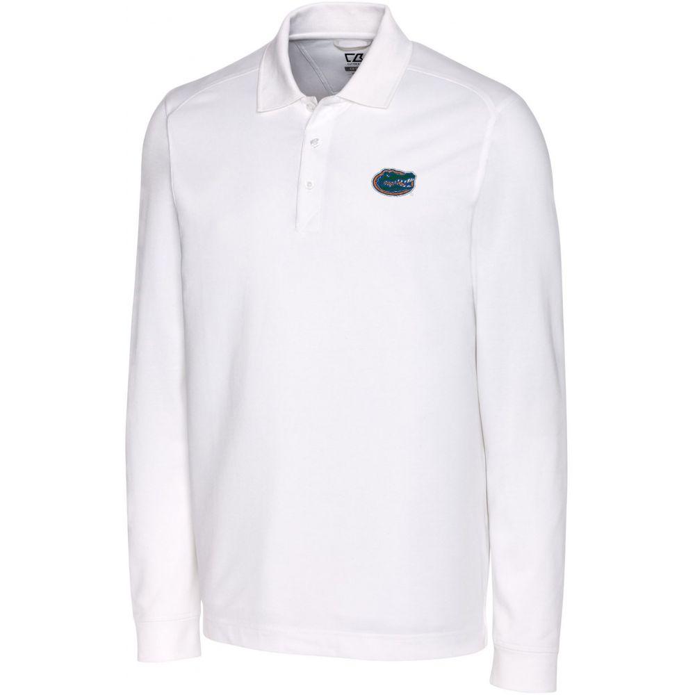 カッター&バック Cutter & Buck メンズ ポロシャツ トップス【Florida Gators Advantage Long Sleeve White Polo】