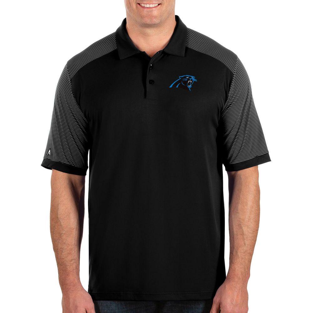 アンティグア Antigua メンズ ポロシャツ トップス【Carolina Panthers Engage Black Performance Polo】