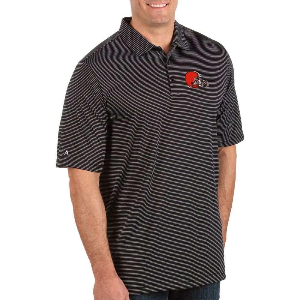 アンティグア Antigua メンズ ポロシャツ トップス【Cleveland Browns Quest Black Polo】
